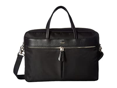 KNOMO London Mayfair Hanover 15 Slim Laptop Brief (Black) Briefcase Bags
