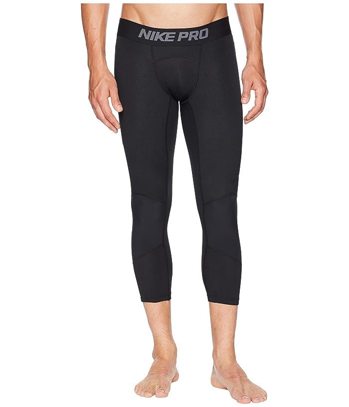Nike Dry 3/4 Basketball Tights (Black/Black) Men