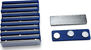 Applied Magnets 10 Name Badge Magnets - Magnetic Name Tag Holders with Three Neodymium Magnets