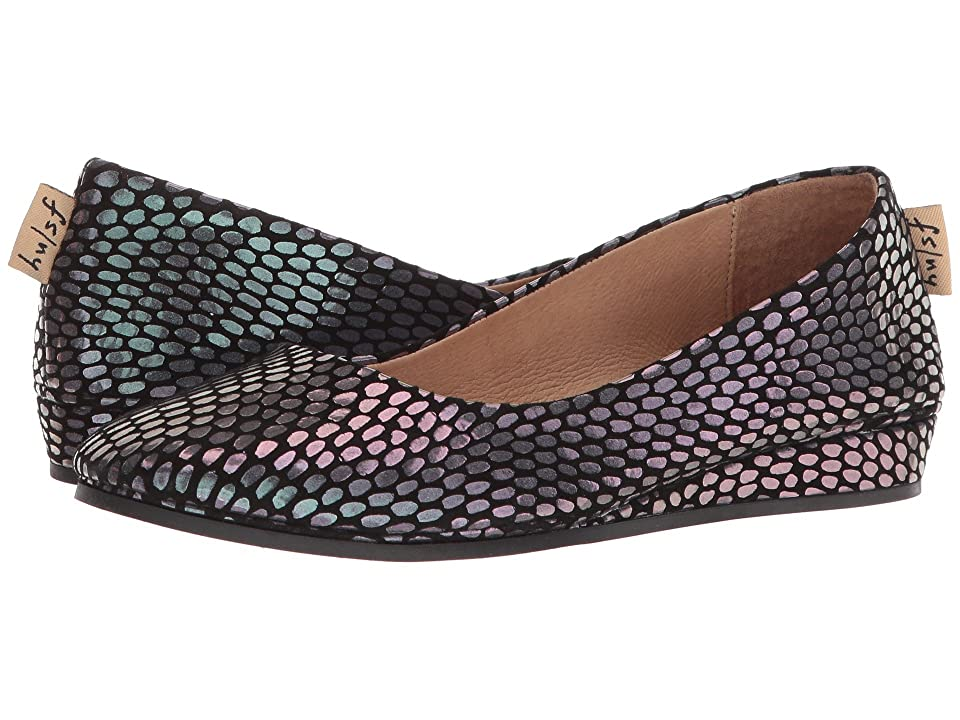 French Sole Zeppa Flat (Black Julep Print) Women