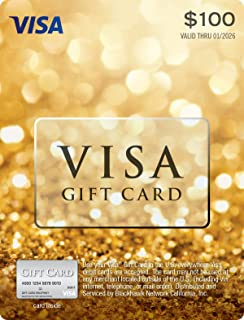 $100 Visa Gift Card (plus $5.95 Purchase Fee)
