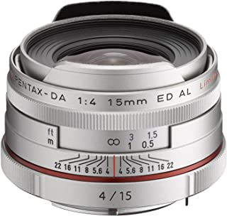Pentax K-Mount HD DA 15mm f/4 ED AL Fixed Lens for Pentax KAF Cameras ( Limited Silver)