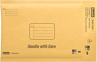 Scotch Bubble Mailer, 6 in x 9 in, Size #0, 10-Pack (7913)
