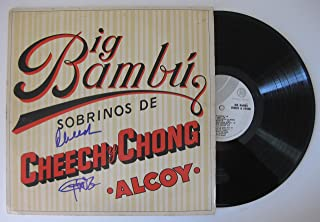 Cheech & Chong signed autographed Big Bambu Album, Vinyl Record, COA with the Proof Photos of Cheech & Chong signing will be included. STAR