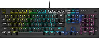 Corsair K60 RGB PRO LOW PROFILE Tastiera Gaming Meccanica, Switch CHERRY MX Low Profile SPEED: Veloce e Preciso, Telaio Re...