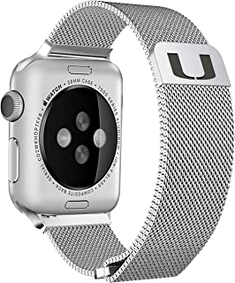 Miami Hurricanes Stainless Steel Band Compatible with The Apple Watch - 42mm/44mm