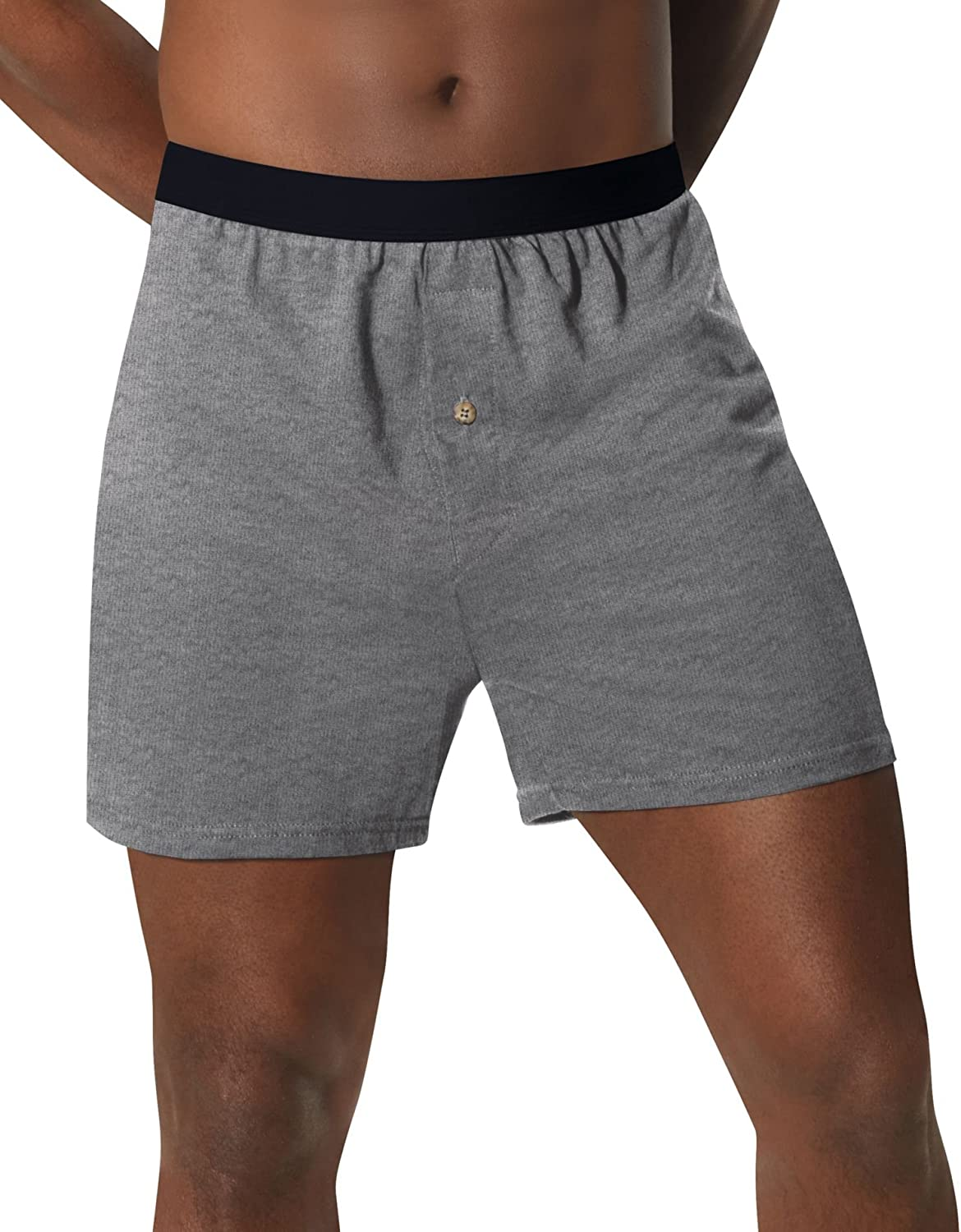 5 Hanes Men's Comfortsoft Waistband Tagless Solid Knit Boxers - Style MKCBX5