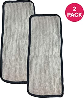 Crucial Vacuum Replacement Mop Pads Part # 60978, 60980 & 60980A - Fits Eureka Steam Pad Fit Models 310A, 311A, 313A Enviro Floor Steamer - Washable, Reusable Part and Model for Home (2 Pack)