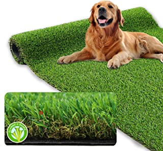 XLX TURF Realistic Artificial Grass Rug Indoor Outdoor - 3ft x 5ft, Thick Synthetic Fake Grass Dog Pet Turf Mat for Garden...
