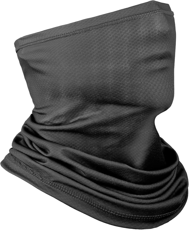 Achiou Neck Gaiter Face Scarf Mask-Dust, Sun Protection Cool Lightweight Windproof