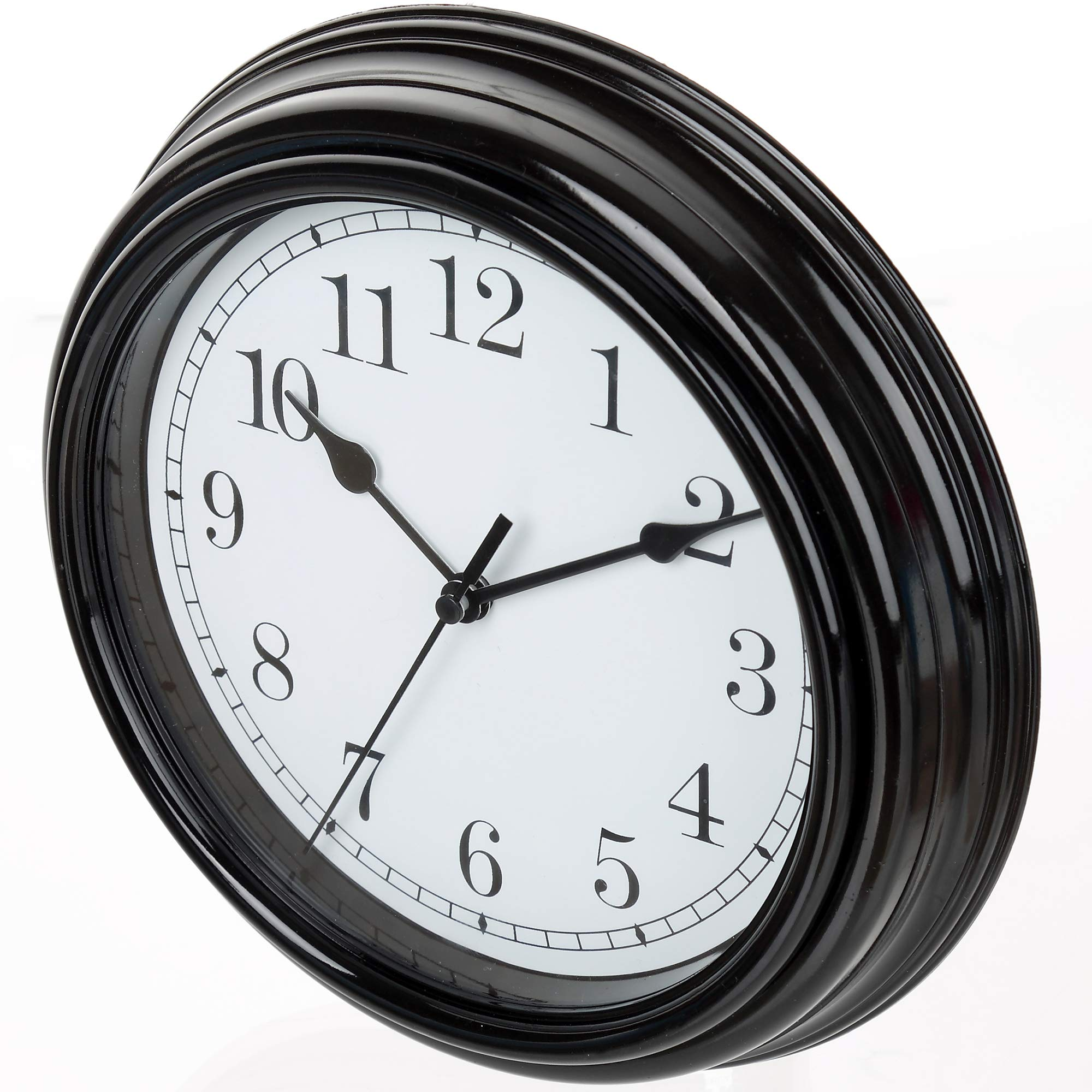 Tiords Small Analog Quarts Battery Bedroom Office Kitchen Farmhouse Wall Clocks Decorative For Living Room Decor Battery Operated Walls Black 8 5 Inch Buy Online In Albania At Desertcart Productid 128472863