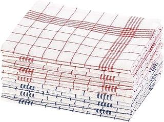 Rosenstein & Söhne Geschirrhandtücher: 12er-Set Halb-Leinen-Geschirrtücher, 70x50 cm, OEKO-TEX Standard 100 Halbleinen Geschirrtücher