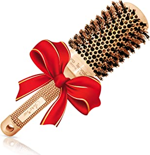 """Blow Dry Round Volume Brush (2"""" Large Barrel) with Natural Boar Bristles for.."""