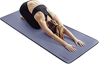MICRODRY Deluxe Fitness Exercise Mat with High Impact Foam & Multi Layered Skid Resistant Surfaces – Neutralizes Odors – C...