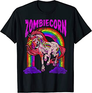 Scary Halloween Death Metal Horror Zombiecorn Zombie Unicorn T-Shirt