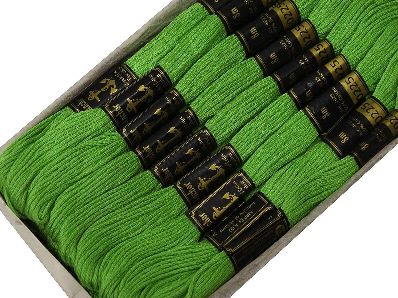 25 x s/ólido Anchor de la mano de la puntada de costura madejas Mulin/é bordados de hilos de seda de-naranja