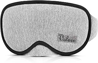 Sleep Mask for Men Women, 3D Contoured Eye Mask Sleeping Mask & Blindfold, Eye Night Mask with Ear Plug, Blockout Light Eye Blinder, Super Soft and Comfort Eye Shade Cover for Travel/Naps/Yoga, Grey