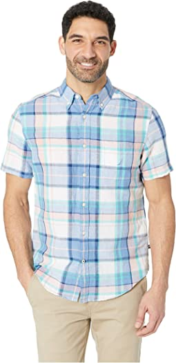 Short Sleeve Rivera Plaid Linen Shirt