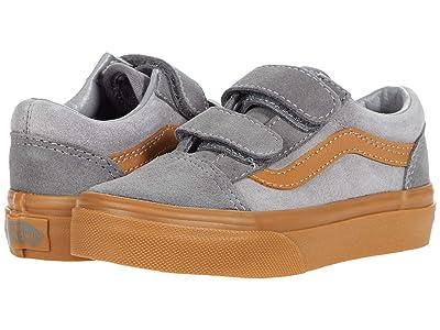 Vans Kids Old Skool V (Little Kid) ((Suede Gum) Frost Gray/Pewter) Boys Shoes