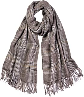 SOJOS Womens Plaid Scarf Large Long Check Wrap Shawl with Tassel SC325