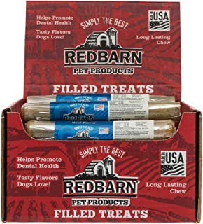 Redbarn Beef Filled Rolled Rawhide Dog Chew, 24 Count, 2 Pack