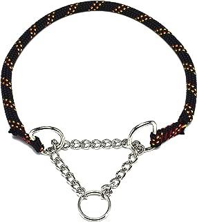 ドッグ・ギア ザイルハーフチョーク首輪 ロープ径10mm ブラック ぴったりサイズ 「ザイルリードとカラーコーディネートできる首輪です」