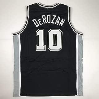 Unsigned DeMar DeRozan San Antonio Black Custom Stitched Basketball Jersey Size Men's XL New No Brands/Logos