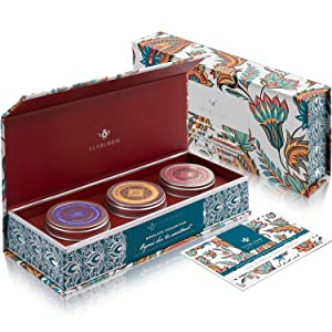 Teabloom USDA Certified Organic Loose Leaf Chai Tea Trio Box - Select Masala Chai, Sweet Vanilla Chai, and Wild Cinnamon Chai - Himalaya Collection