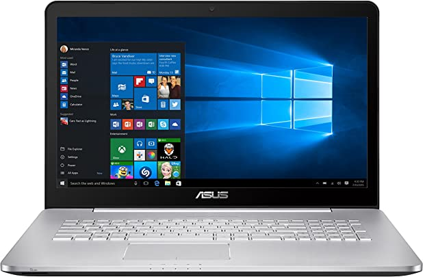 Asus N752VX-GC131T 43 9 cm  17  Zoll FHD  Laptop  Intel Core i7 6700HQ  8GB RAM  1TB HDD  256GB SSD  Nvidia GTX 950M 4GB  DVD  Win 10 Home  silbergrau
