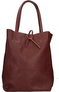 Aren - Shoulder Bag Borsa a Spalla da Donna in Vera Pelle Made in Italy - 27x33x13 Cm