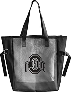 Littlearth Productions NCAA Unisex-Adult NCAA Black Mesh Reusable Fabric Tailgate Tote Bag with Black Vinyl Team Logo