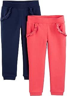 Simple Joys by Carter's Toddler Girls' 2-Pack Pull on Fleece Pants