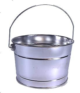 B20 Galvanized Buckets w/handle 1 qt 3 pc 5 inch wide, 4 inch tall