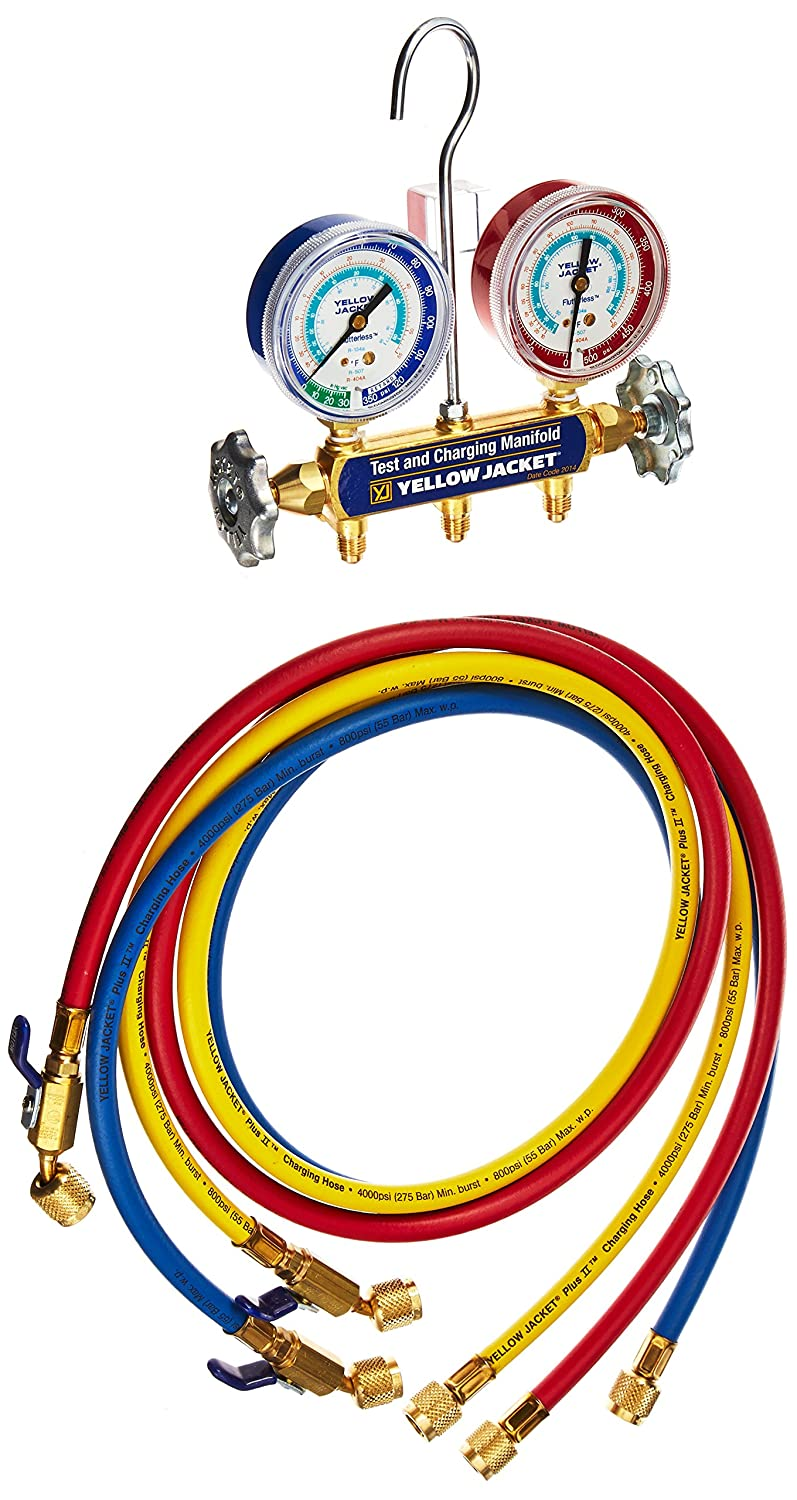 Yellow Jacket 42315 Series 41 Special Campaign Manifold 2-1 R Beauty products psi Gauge with 2