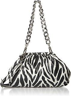 Steve Madden Damen Shoulder Bag Revive Clutch Schultertasche, weiß/schwarz, Einheitsgröße