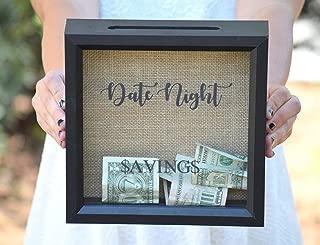 Date Night - Date Night Savings - Piggy Bank - Date Night Jar - Personalized Gift - Shower Gift - Date Night Ideas - Date Night Jar - Picture Frame - Shadow Box