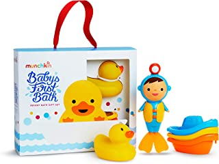 Munchkin Baby's First Bath, 3 Piece Bath Toy Gift Set, Bath Gift Set