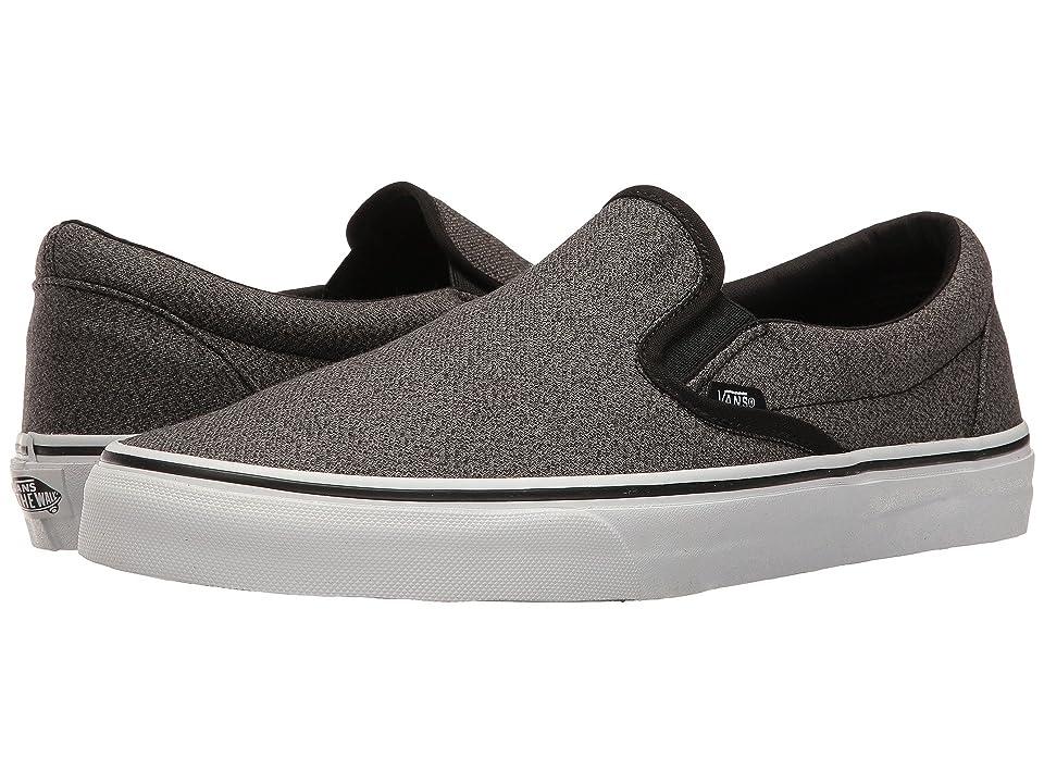 Vans Classic Slip-Ontm ((Suiting) Black/True White) Skate Shoes