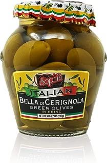 Sophia Italian Olives-Bella di Cerignola 6.7oz-6 pack