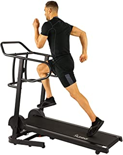 Sunny Health & Fitness  Manual Treadmill with 16 Levels of Magnetic Resistance, 300 LB Max Weight and Dual Flywheels