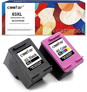 CSSTAR Remanufactured Ink Cartridge Replacement for HP 63 XL 63XL Combo Pack for Envy 4520 4512 4516 OfficeJet 4655 3830 4650 DeskJet 2130 2132 3632 3636 Printer, Black & Color (Ink Level Display)