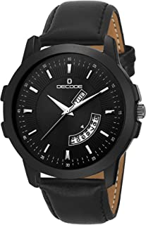Decode Matrix Analogue Men's Watch (Black Dial Black Colored Strap)