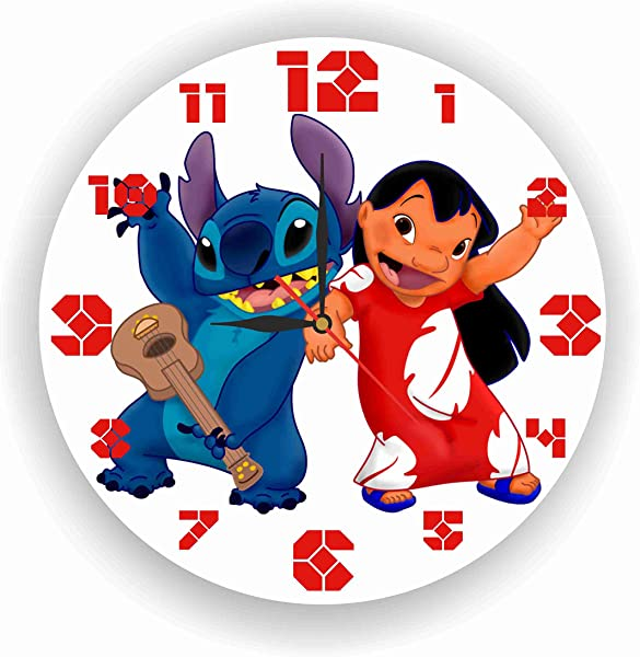 MAGIC WALL CLOCK FOR DISNEY FANS Lilo Stitch 11 8 Handmade Made Of Acrylic Glass Get Unique D Cor For Home Or Office Best Gift Ideas For Kids Friends Parents And Your Soul Mates