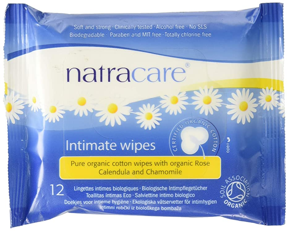 排出アルネ最初Natracare, Certified Organic Cotton Intimate Wipes, 12 Wipes