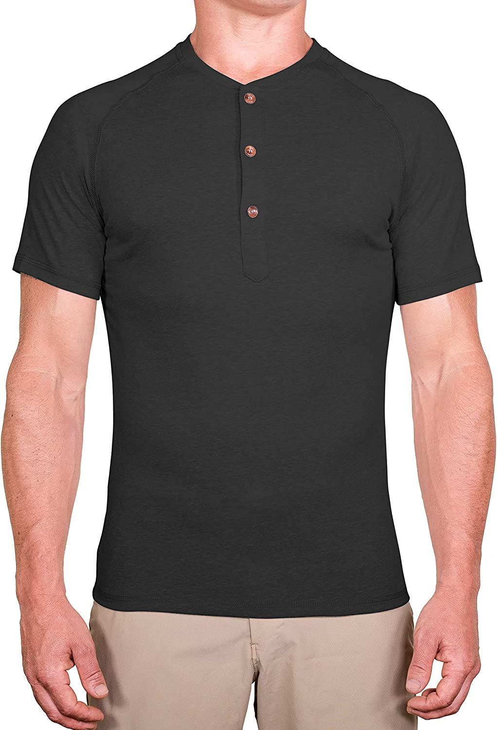CC Slim Fort Worth Mall Fit Short Sleeve Henley Charlotte Mall Shirts Soft Casual Men for