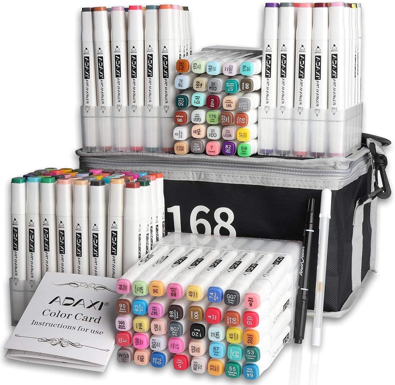 Double-Headed Ranking TOP9 Art Marker Regular dealer 168 Colors Full Alcohol-based M Set of