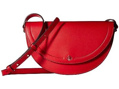 Kate Spade New York Andi Half Moon Crossbody (Hot Chili) Handbags