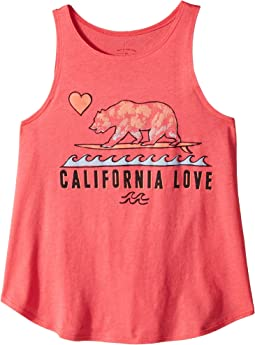 Billabong Kids Cali Loves Waves Tank Top (Little Kids/Big Kids)