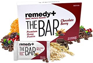 Sponsored Ad - The BAR by Remedy+, Premium Hemp Protein Bars, Tasty Chocolate Berry Energy Snacks to Boost Performance and...