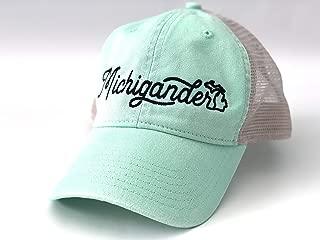 Nudge Printing Michigan Hat Women's Michigander Trucker Baseball Cap Unstructured Adjustable Snapback Closure